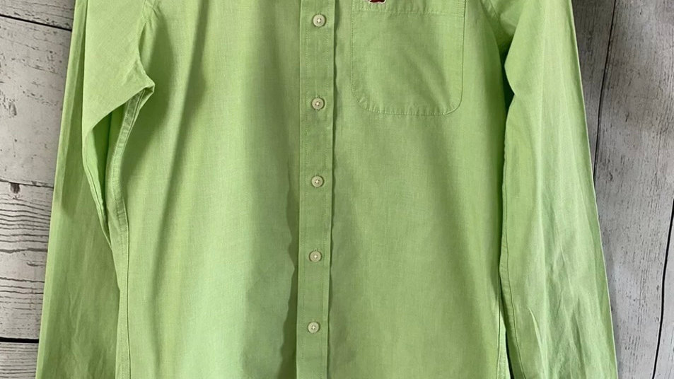 Mens Hollister Lime Green Long Sleeve Shirt Size Medium - Immaculate Condition
