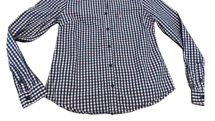 Womens / Ladies Jack Wills Pink Navy Check Long Sleeve Shirt Size 10 Excellent