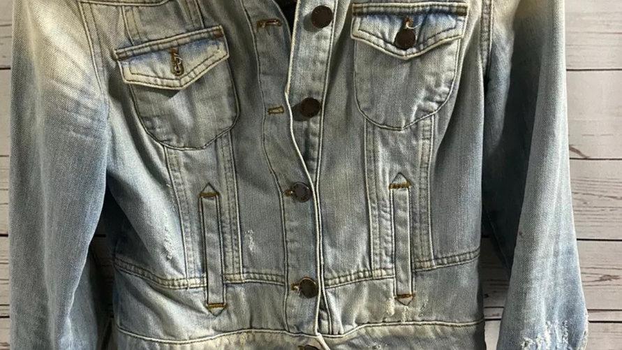 Womens / Ladies Ware Denim Blue Denim Jacket Size 10 Excellent Condition