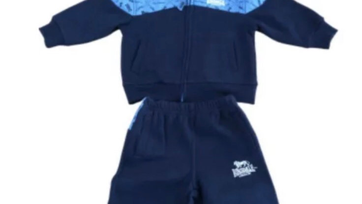 Baby Boys Lonsdale Full Tracksuit Zip Jacket And Bottoms Age 6-12 Months