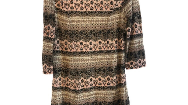 Womens / Ladies Phase Eight Crochet & Lined 3/4 Sleeve Dress Size 14 Excellent