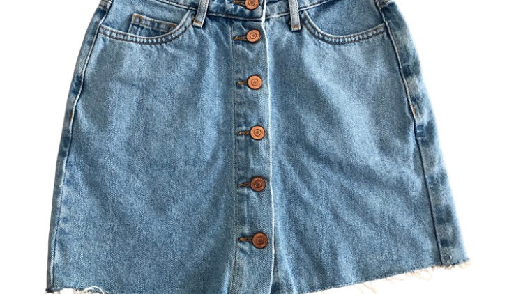 Girls New Look Blue Denim Skirt Age 9 Years Excellent Condition