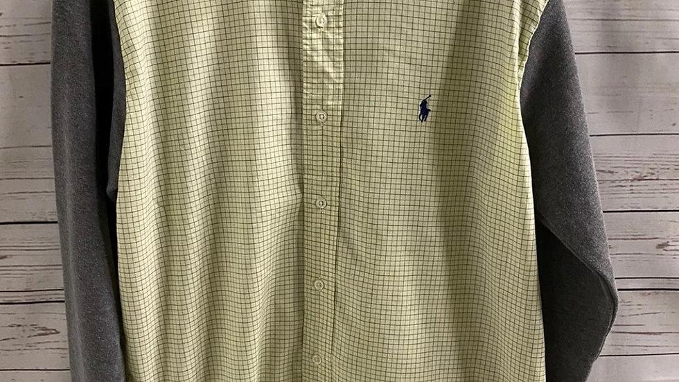 Mens Ralph Lauren Yellow Green Shirt & Sweater Arms Size XL Immaculate Condition