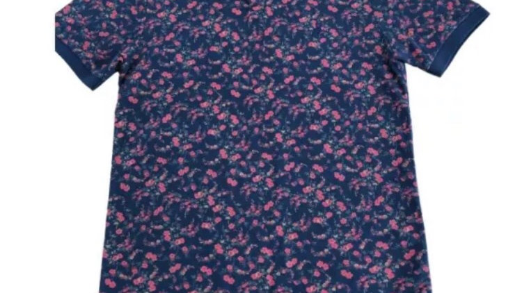 Mens Jack Wills Navy Rose Polo T-shirt Size Small Good Condition
