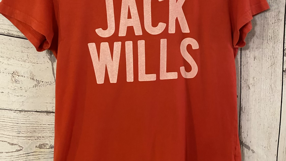 Womens / Ladies Jack Wills Red Short Sleeve T-Shirt Size 14 Good Condition