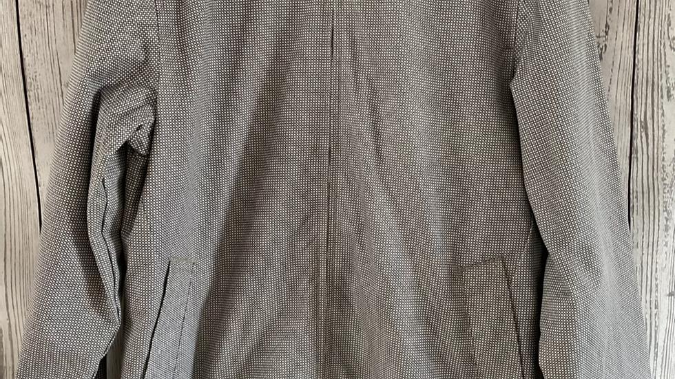 Mens Marks & Spencer Black & White Zip Light Coat Size Medium - Immaculate