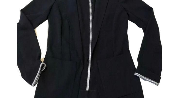Womens / Ladies River Island Black Blazer Hand Jacket Size 6 Immaculate