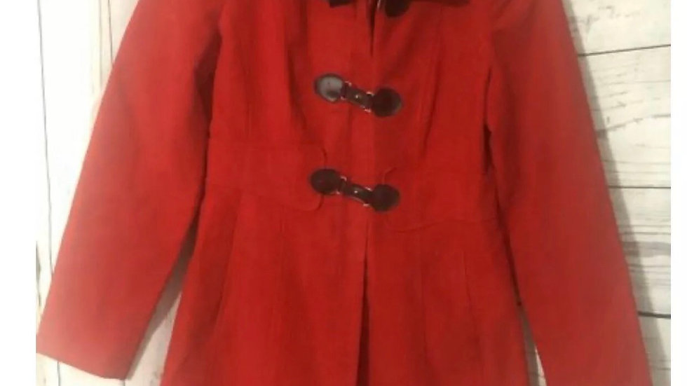 Women's / Ladies Jane Norman Red Coat Size 12 100% Cotton Immaculate Condition
