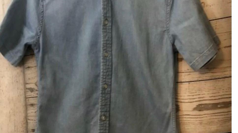 Men's Primark Denim Soft Cotton Short Sleeve Shirt Size Small Immaculate