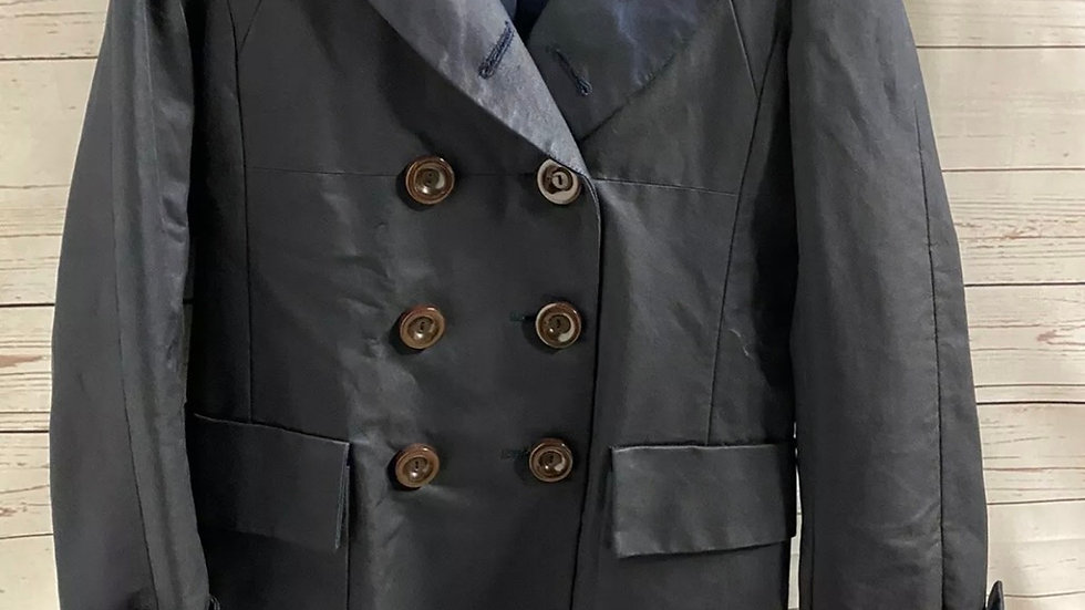 Womens / Ladies French Connection Navy Mac Trench Coat Size 10 Immaculate