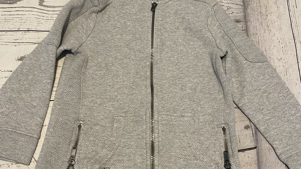 Boys Grey F&f Full Zip Cardigan Age 6-7 Years Excellent Condition