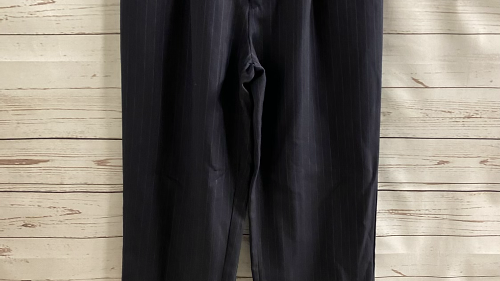 Boys BHS navy Pin Stripe Smart Trousers Age 13 Years - Immaculate