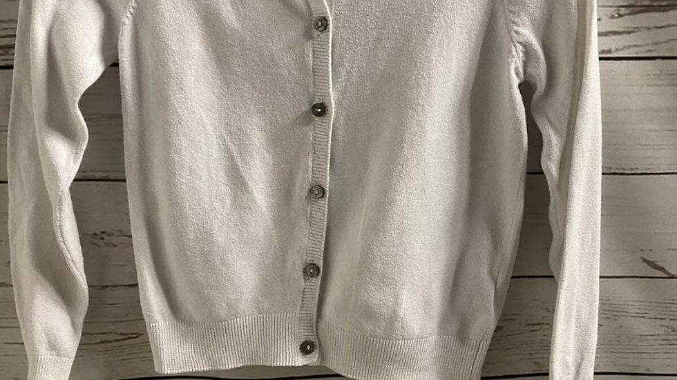 Girls Next White Long Sleebe Button Cardigan Age 6 Years Excellent Condition