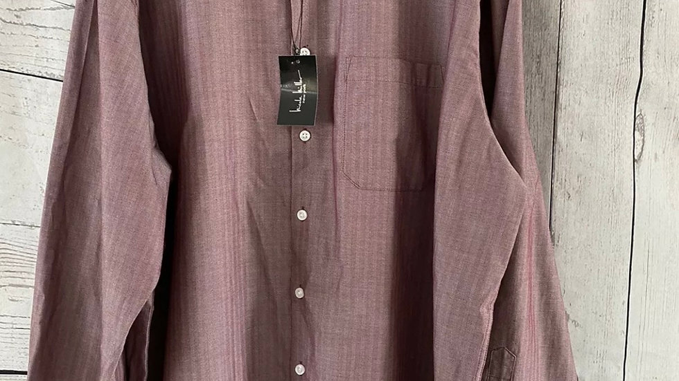 Mens Nicole Miller New York Purple Long Sleeve Shirt Size Large New With Tags