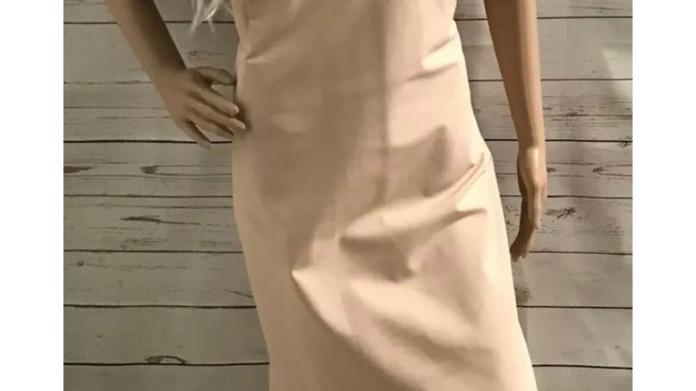 Womens / Ladies Definations Beige Dress Size 22 Immaculate