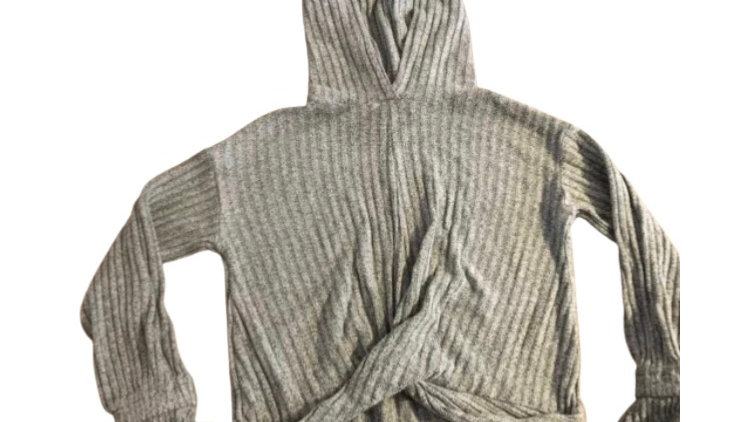 Girls George Grey Ribbed Hoodie Jumper Age 7-8 Years Immaculate Condition