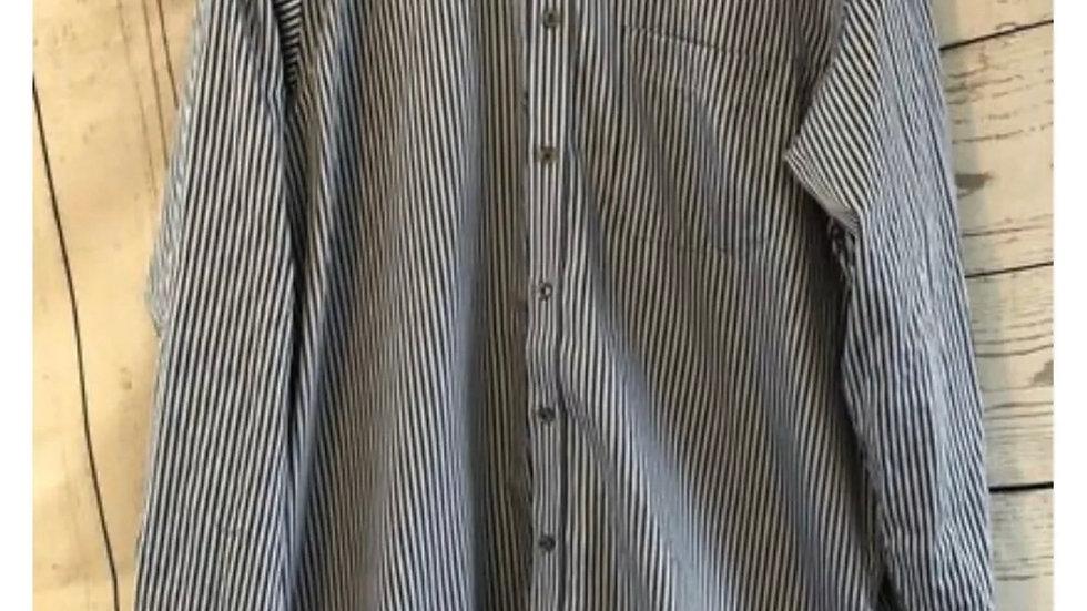 "Men's Marks & Spencer Blue Stripped Long Shirt Size 16.5"" Collar 42"" Chest"