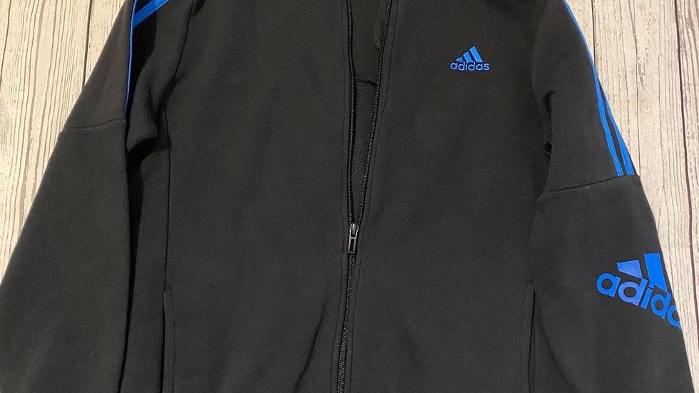 Boys Adidas Black Full Zip Hoodie Jacket Age 13-14 Years Good Condition