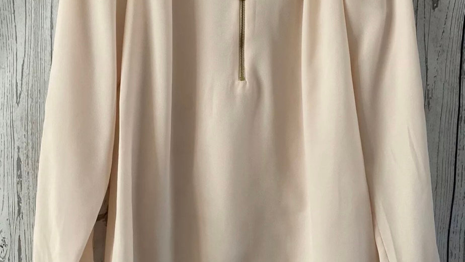 Womens / Ladies Peacocks Peach Long Sleeve Blouse Top Size 8 Immaculate