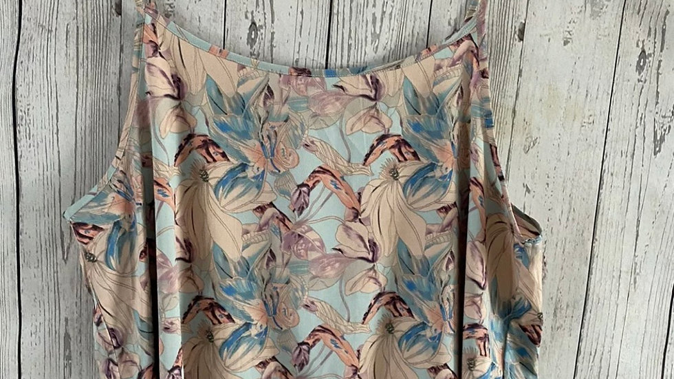Womens / Ladies Peacocks Floral Summer Blouse Top Size 18 Immaculate
