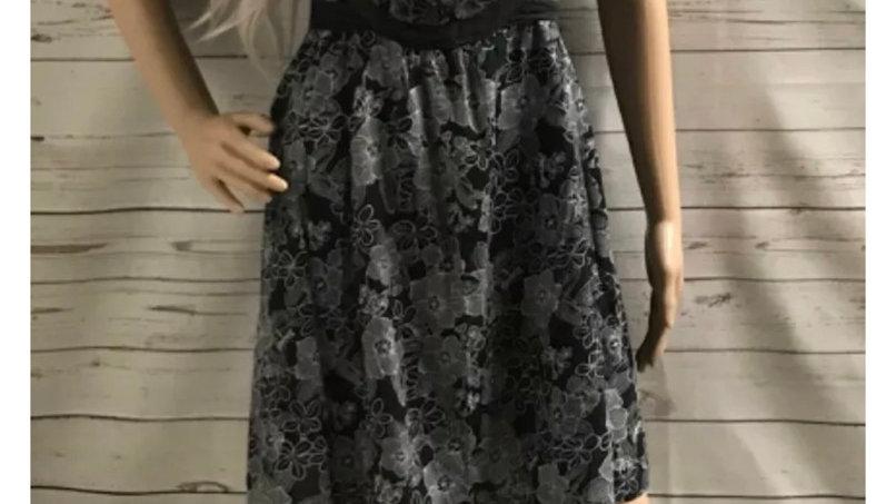 Women's / ladies charcoal floral dress size 16 good condition