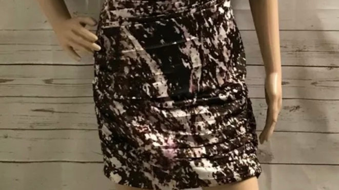 Women's / ladies brown and cream mix Lipsy dress size 8 excellent condition