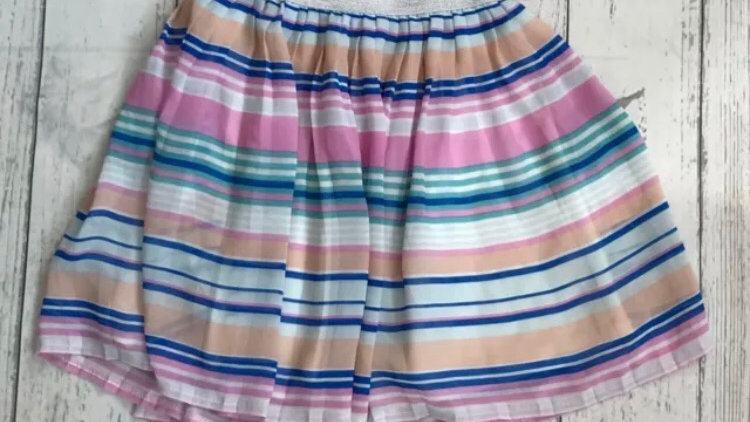 Girls skirt age 6 years multi colour stripe excellent condition