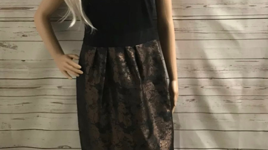 Women's / ladies Black and Bronze marks and Spencer's dress size 12 immaculate