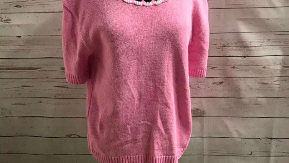 Women's / ladies pink glimpse knit jumper size L/XL new