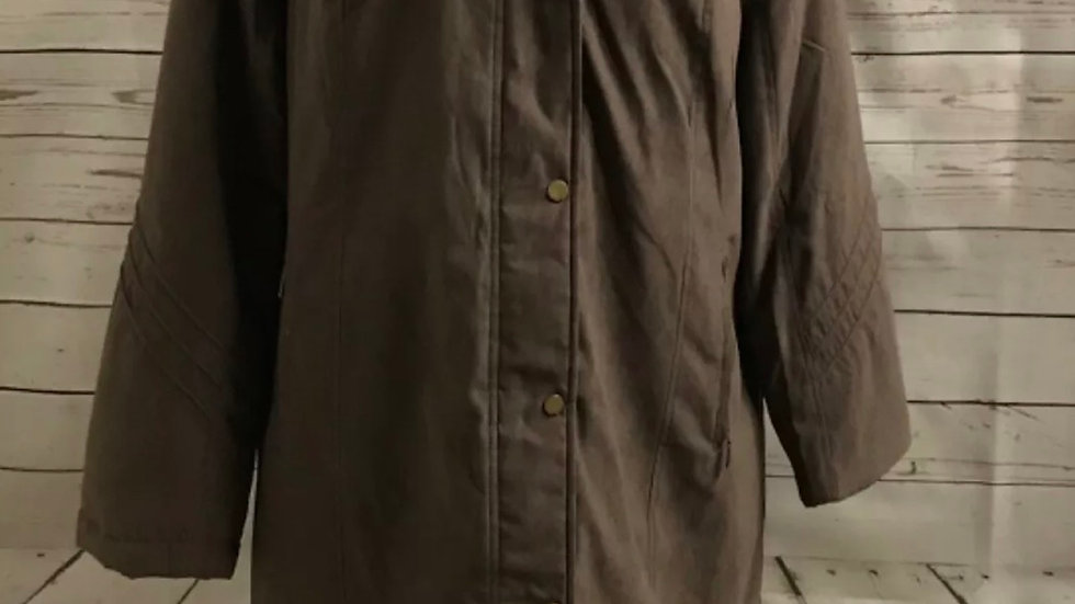 Women's / ladies brown hooded coat size 18 new with tags