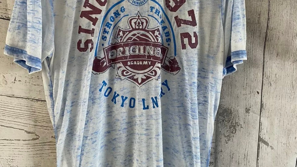 Mens Tokyo Laundry Blue Light T-Shirt Size Small - Excellent