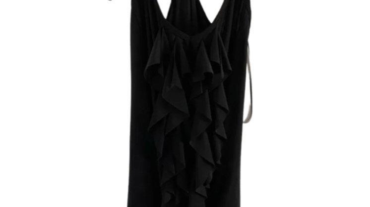 Womens / Ladies Diverse Black Vest Blouse Top Size M/L Approx 10-12 NEW