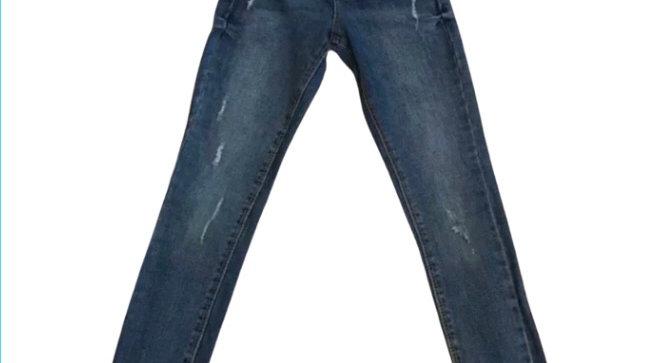 Kids / girls Miss E-vie denim blue ripped jeans size 8-9 years