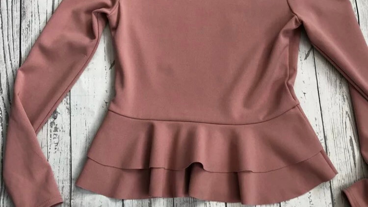 Womens / Ladies Missguided Pink Long Sleeve Top Size 10 Immaculate