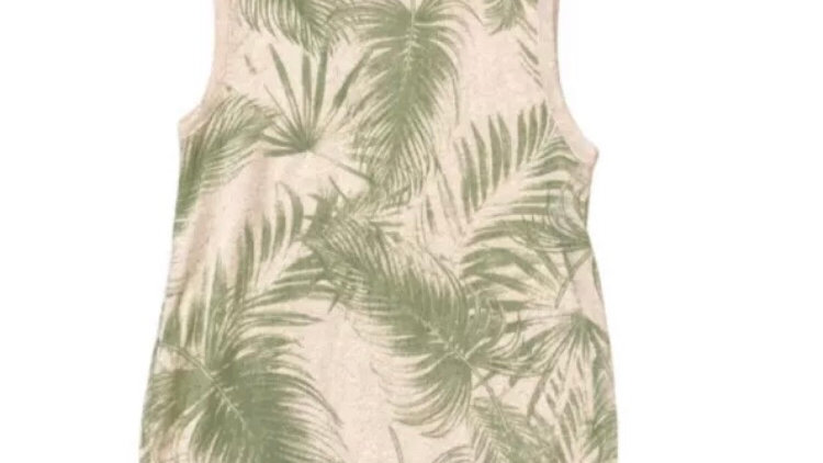 Girls River Island Shimmer Leaf Print Top Age 7-8 Years Immaculate Condition