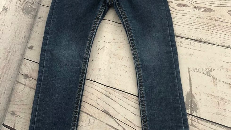 Girls H&m Skinny Blue Denim Jeans Age 2-3 Years - fair Condition