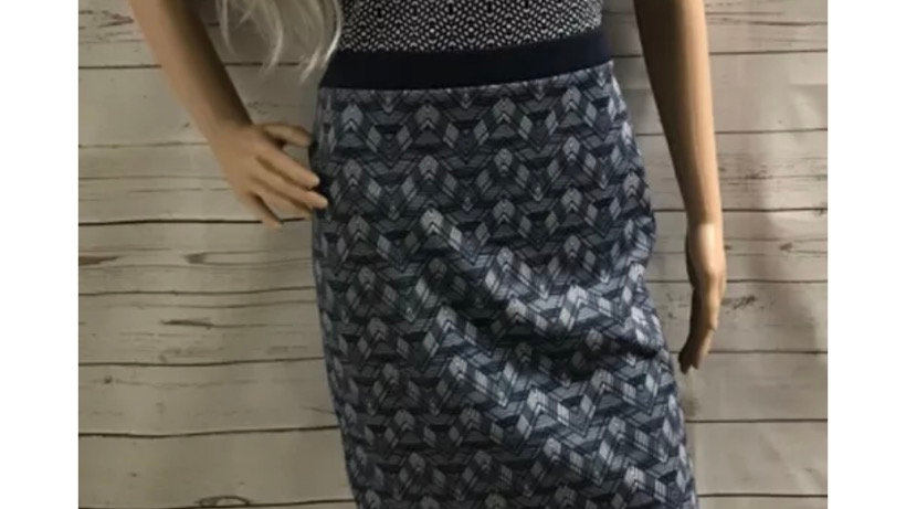 Women's / Ladies Next Blue Dress With Cut Out Back Size 10 Stretch Material
