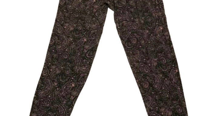 Womens / Ladies New Look Pink Black Light Trousers Size 10 Immaculate