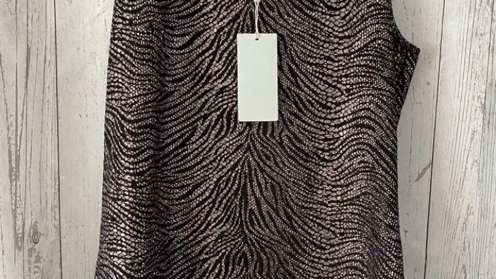 Womens / Ladies Chianti Black & Gold Vest Blouse Size 10 New With Tags