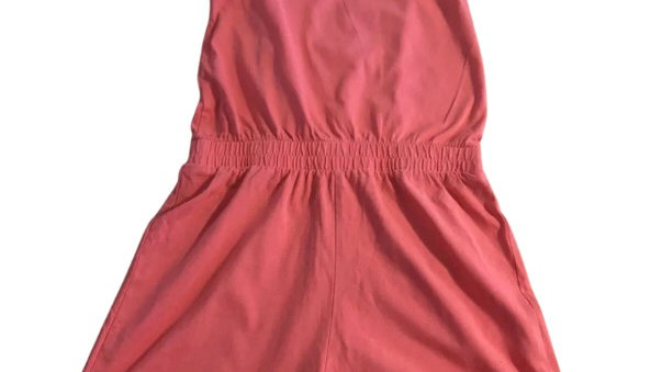 Girls George Pink / Peach Cotton Summer Playsuit Age 9-10 Years Immaculate