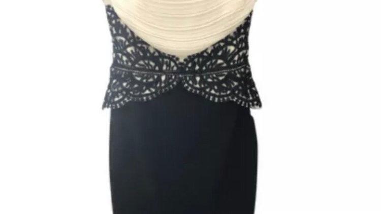 Womens / Ladies Lipsy Black & Cream Dress Size 10 - Excellent Condition