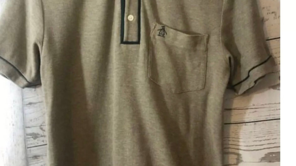 Men's Penguin Brown Polo Short Sleeve T-Shirt Size Small good Condition