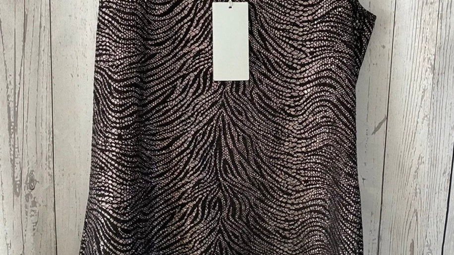 Womens / Ladies Chianti Black & Gold Vest Blouse Size 12 New With Tags
