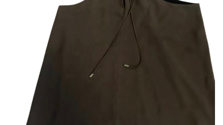 Womens / Ladies River Island Green Khaki Blouse Vest Top Size 16 Immaculate