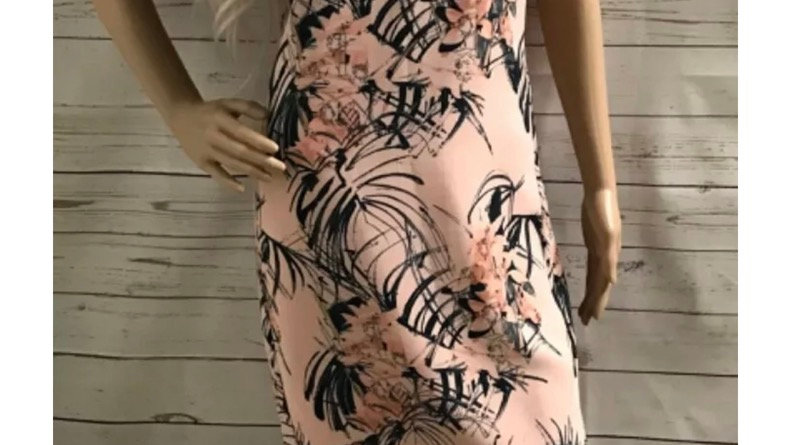 Women's / ladies pink floral patterned next dress size 10 excellent condition
