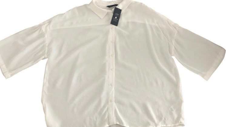 Womens / Ladies Marks & Spencer White Shirt Blouse Short Sleeve Size 16 New Tags