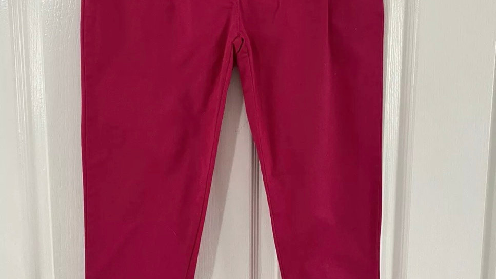 Girls Denim & Co Pink Cotton Trousers Age 12-13 Years Immaculate