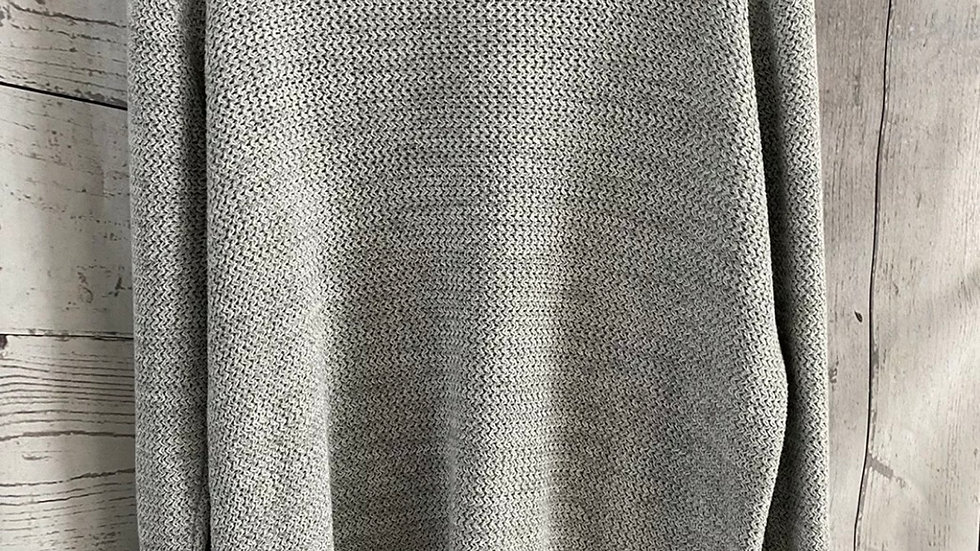 Mens Next Grey Cotton Knitted Jumper Size Medium - Immaculate