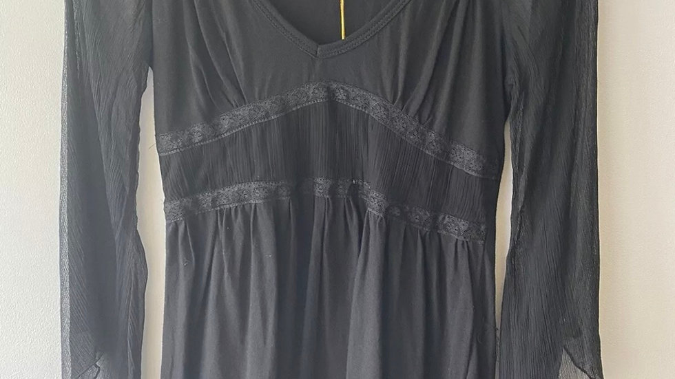 Womens / Ladies Chilli Pepper Black Long Sleeve Top Size XS - New With Tags