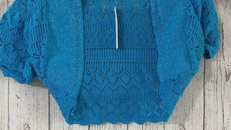 Girls Refinery Knitted Blue Shoulder Cardigan 160cm Approx 13 Years New With Tag